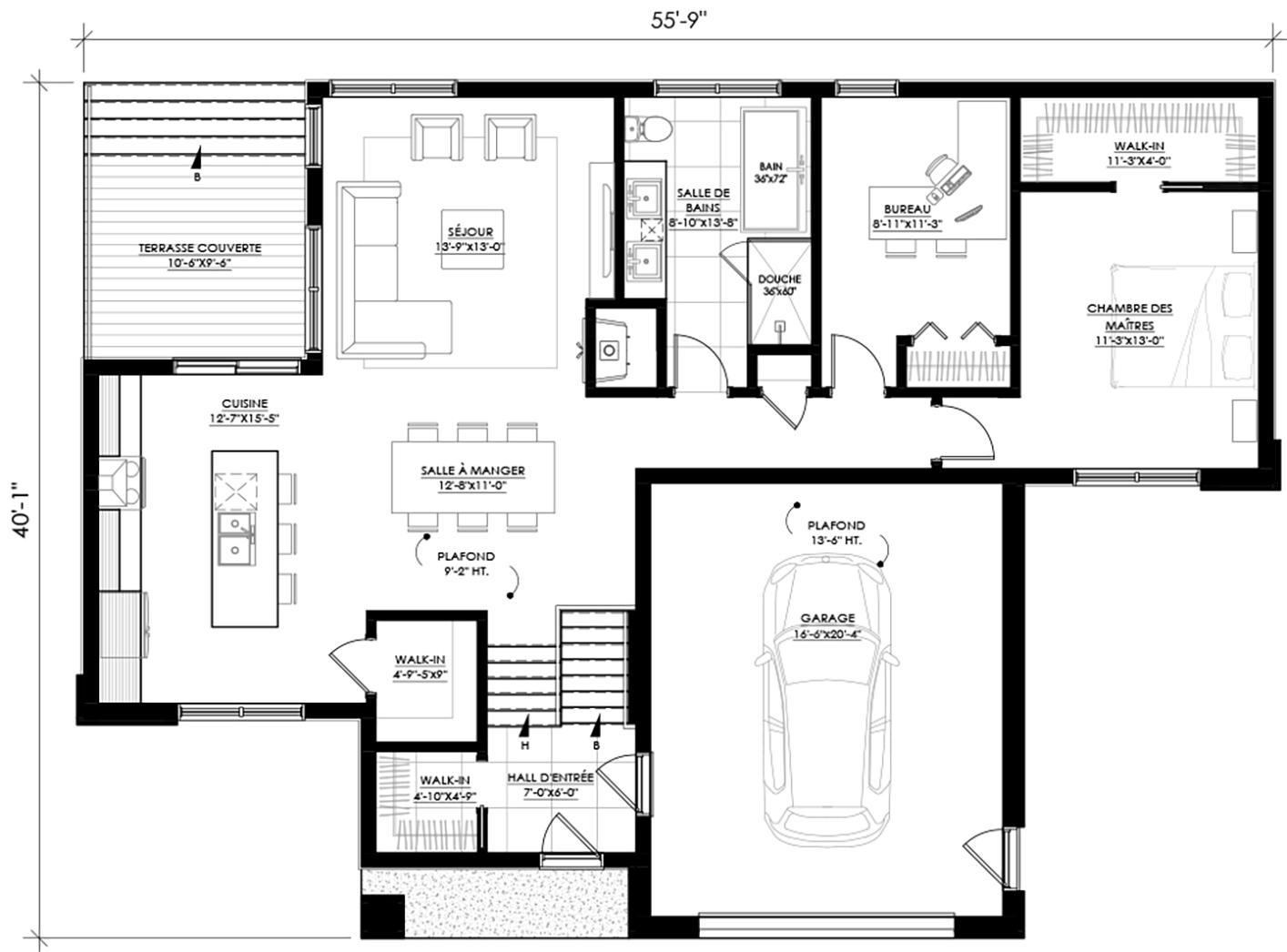 Plan De Maison E 125 Legue Architecture