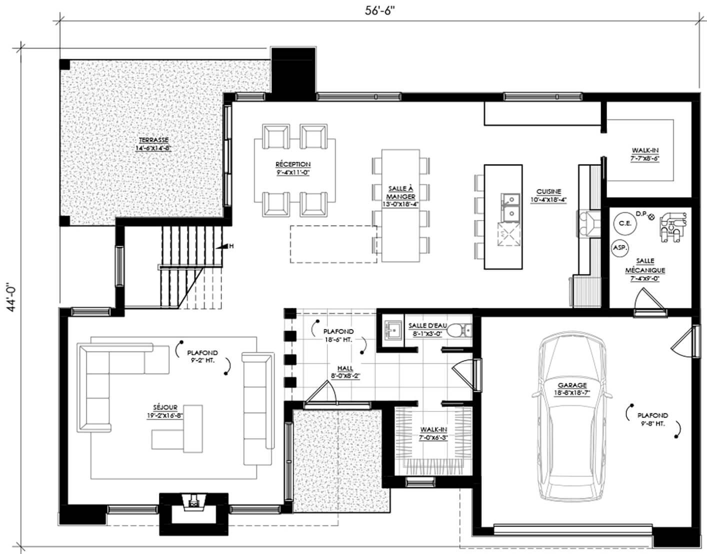 Plan De Maison E 118 Legue Architecture