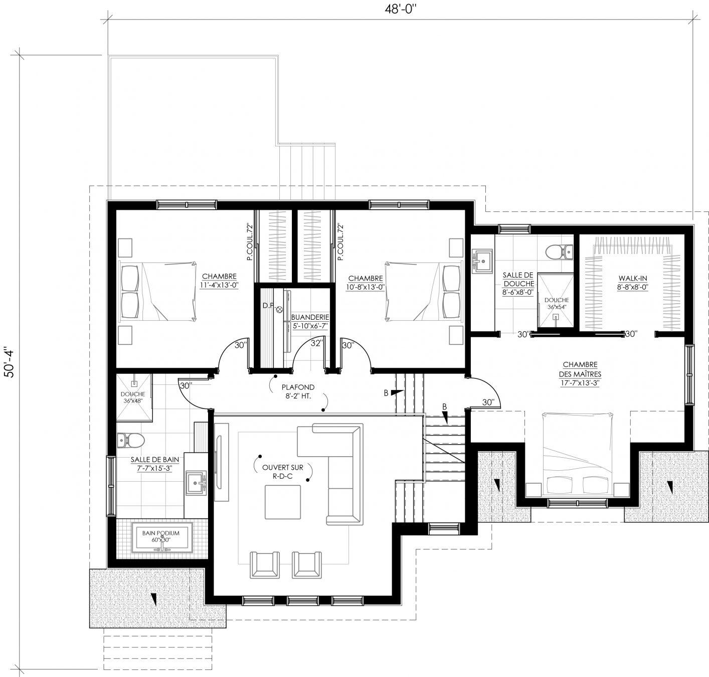 Plan étage inversé